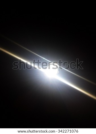White flashlight - stock photo