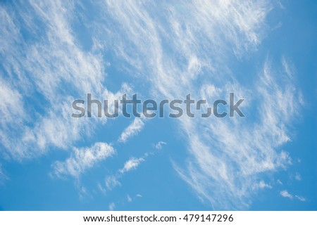 White fluffy and softness of clouds in blue sky