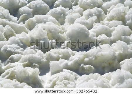 White foam. - stock photo