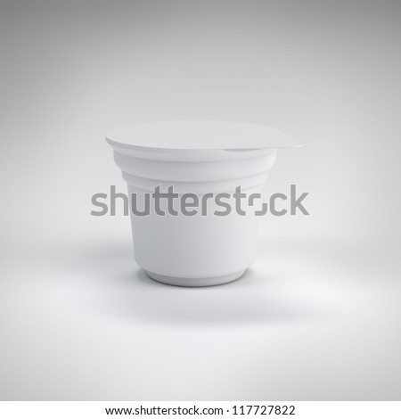 White food plastic container - stock photo