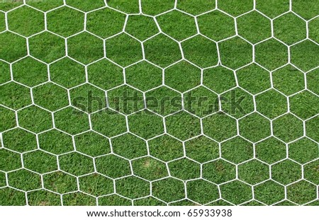 white football net - stock photo