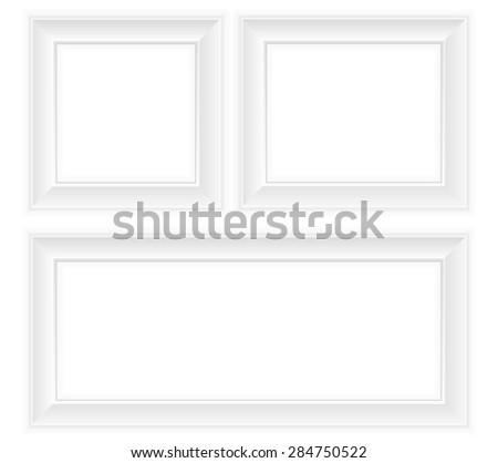 white frame illustration isolated on background - stock photo