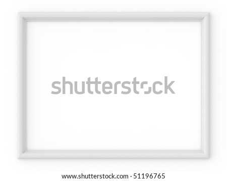 white frame isolated on white - stock photo