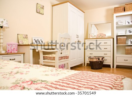 White furniture - interior - stock photo