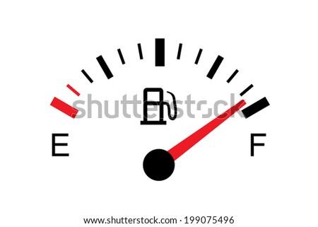 White gas tank illustration on white - Full - stock photo