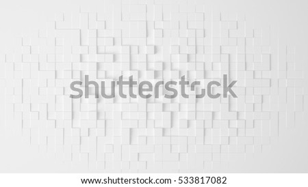 White geometric abstract background. 3d illustration, 3d rendering.