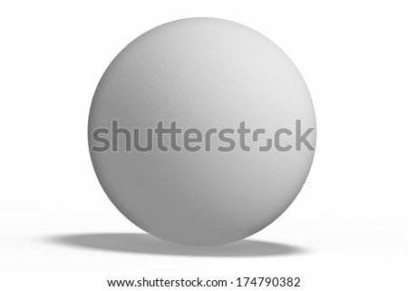 white  geometric shapes sphere Isolated on white background