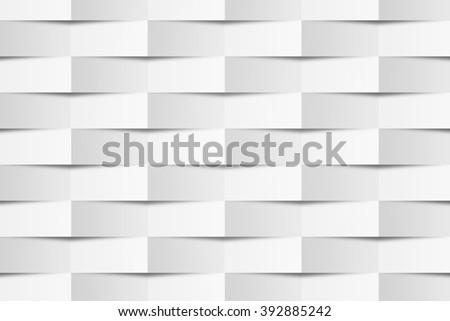 White Geometric Texture - stock photo