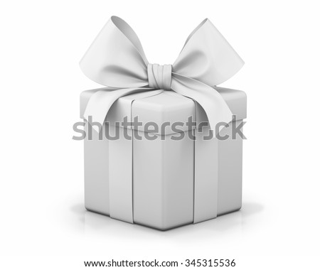 white gift box 3d  render