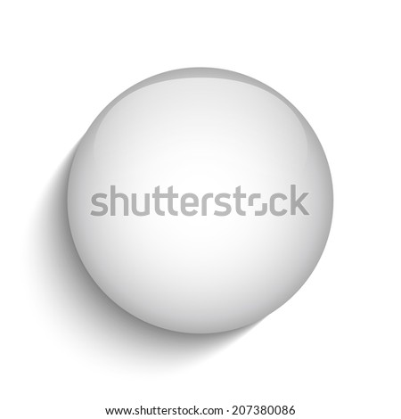 White Glass Circle Button Icon - stock photo