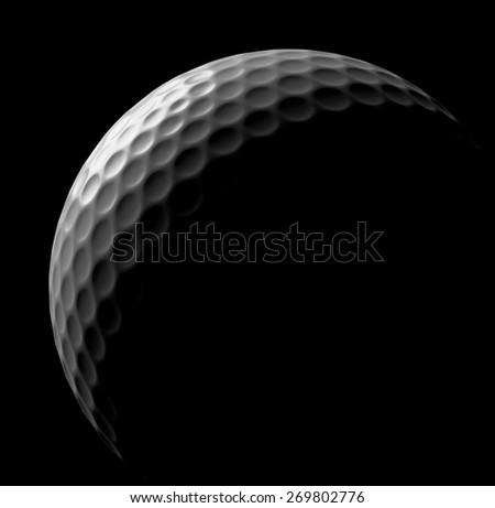 White golf ball in dark, illustration done in low key - stock photo