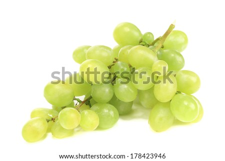 White grape. Isolated on a white background.