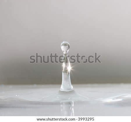 white gray drop - stock photo