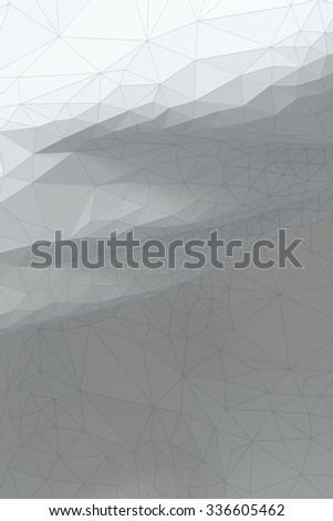 White grayish abstract polygonal surface - vertical background - stock photo