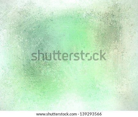 white green background soft muted color pale pastel background, Christmas holiday watercolor background illustration, faded worn vintage grunge background texture, distressed rough wash design layout - stock photo