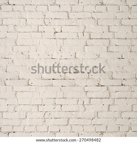 white grunge brick wall, building architecture background - stock photo