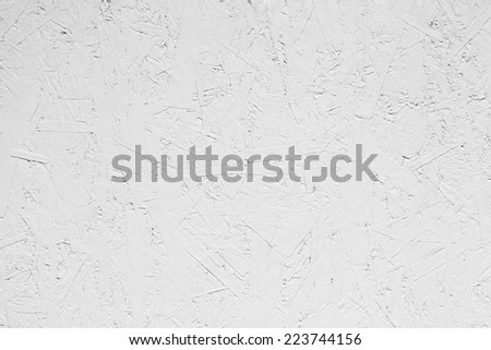 White grungy painted wooden plywood wall. Background photo texture - stock photo