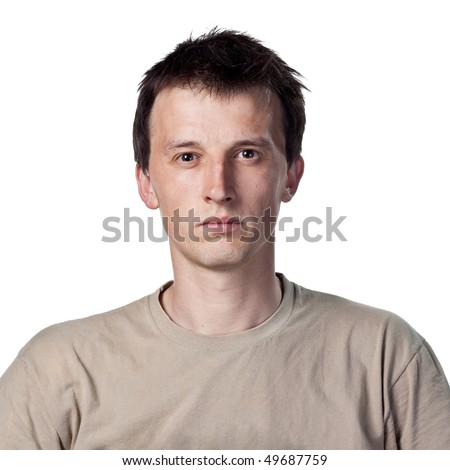 White guy staring - stock photo