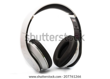 White Headphones Isolated for use your graphic design