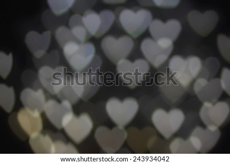 White heart bokeh background - stock photo