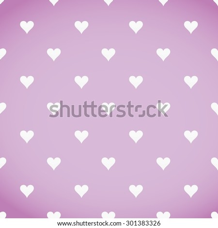 white hearts patter over a pink background illustration design - stock photo