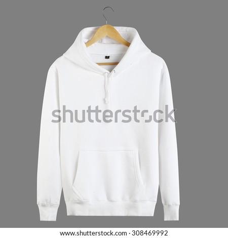 White hoodie - stock photo