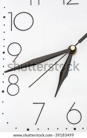 White hours which show eighteen forty two - stock photo