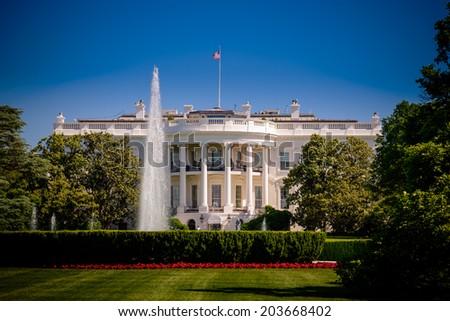White house - stock photo