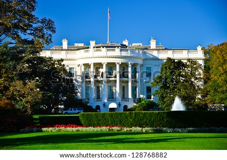 White house building, Washington DC, USA - stock photo