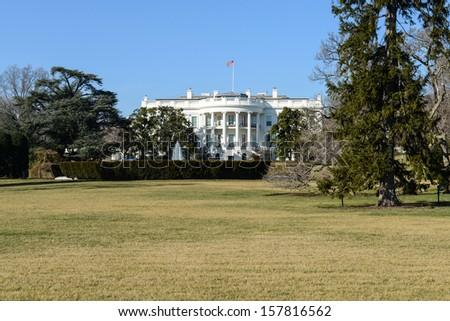 White House in Washington DC - stock photo