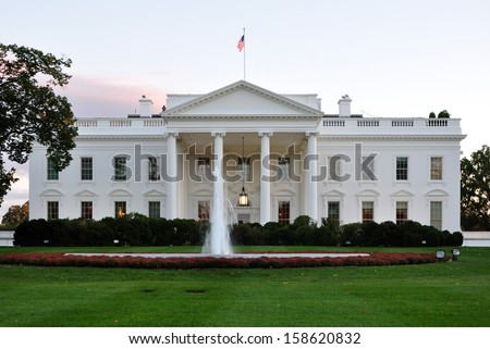 White House in Washington, DC, USA. - stock photo