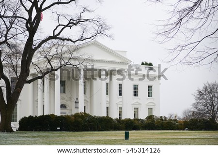 White House in Winter - Washington DC USA