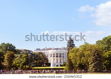 White House, Washington DC, USA. - stock photo