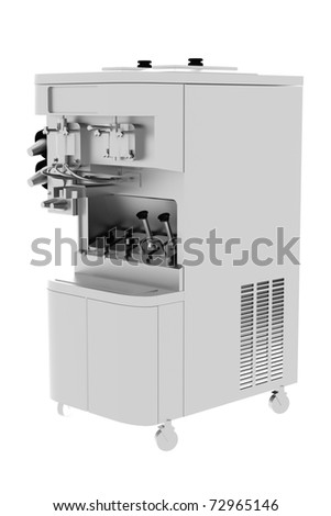 White Industrial coffee machine - stock photo