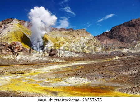 White Island Volcano, New Zealand - stock photo