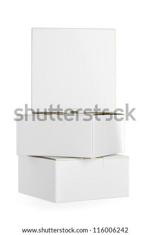 White isolated box. High resolution  render