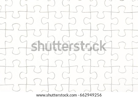 White jigsaw puzzle pieces background