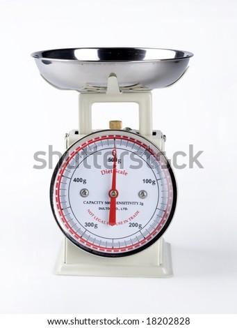 white kitchen scale - stock photo