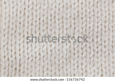 White knitted horizontal textured background  - stock photo