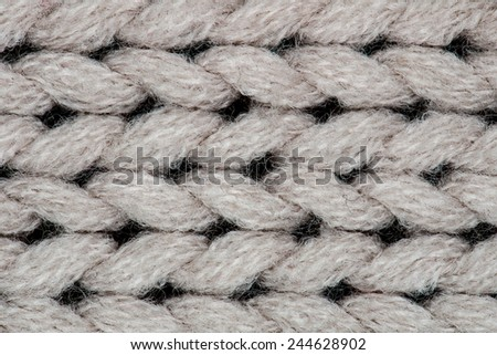 White knitting wool texture background. - stock photo