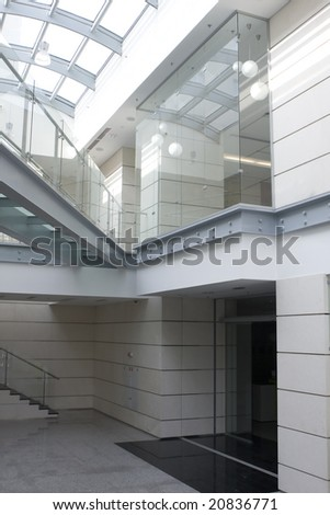 white ladder indoor - stock photo