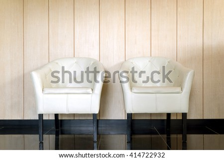 White leather chairs, home decoration