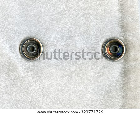 white leather texture, decorated with buttons