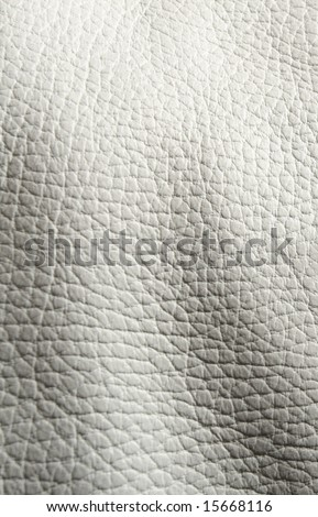 white leather texture with shadows - stock photo