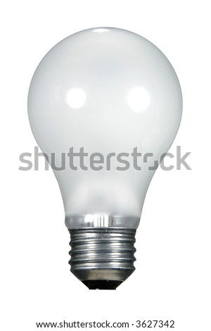 White light bulb isolated over a white background