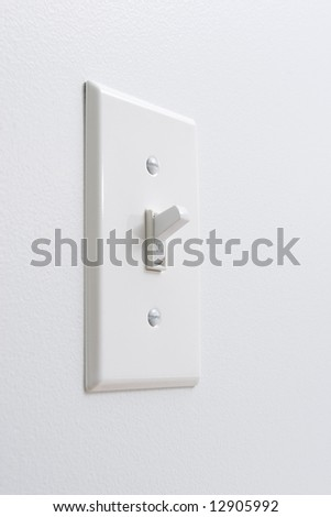 White light switch - stock photo