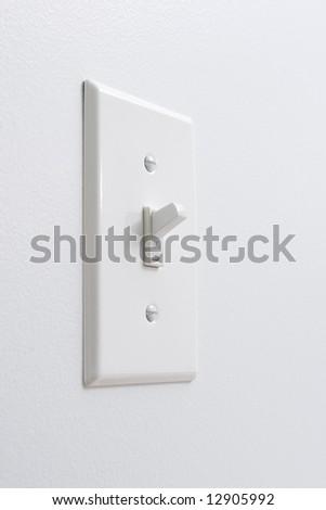 White light switch - stock photo
