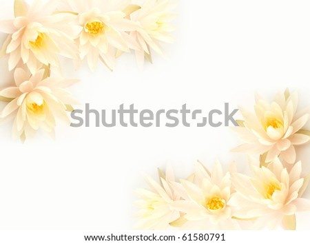 White lilies on a postcard - stock photo