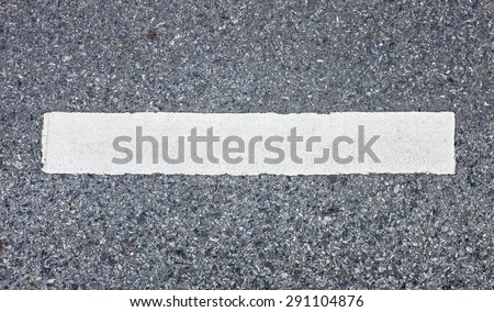 White line asphalt road background - stock photo