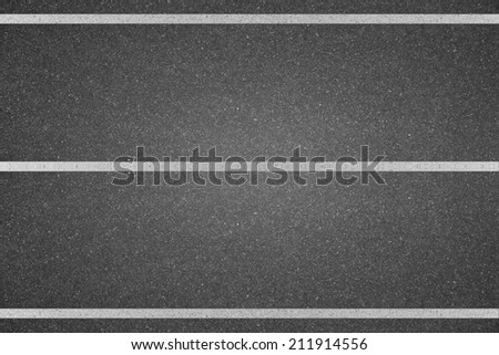White line marking on road texture background - stock photo